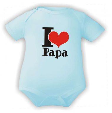 farbiger Baby Body I love Papa