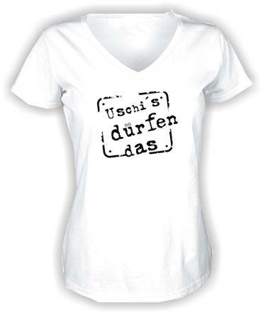 Lady V-Neck T-Shirt Uschis dürfen das