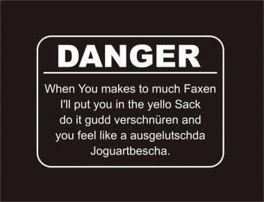 Lady V-Neck T-Shirt DANGER