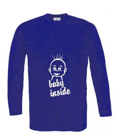 Langarm T-Shirt für Schwangere Baby Inside + Babykopf