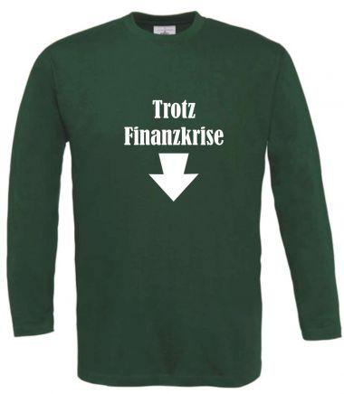 Langarm T-Shirt für Schwangere Trotz Finanzkrise