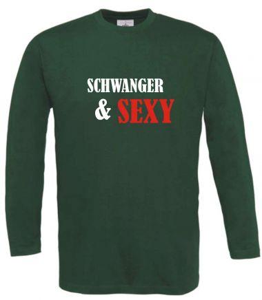 Langarm T-Shirt für Schwangere Schwanger & Sexy