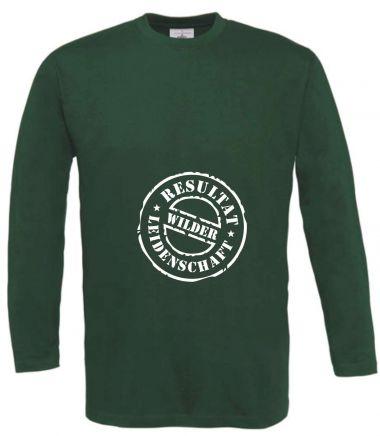 Langarm T-Shirt für Schwangere Resultat wilder Leidenschaft