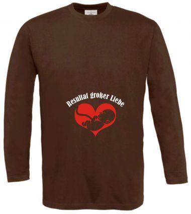 Langarm T-Shirt für Schwangere Resultat großer Liebe