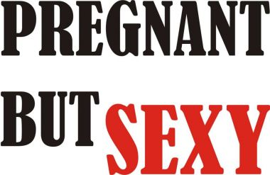 Langarm T-Shirt für Schwangere Pregnant but sexy