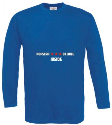 Langarm T-Shirt für Schwangere Popstar deluxe inside