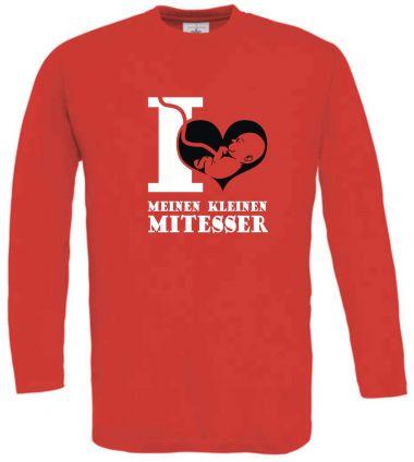 Langarm T-Shirt für Schwangere I Love meinen kleinen Mitesser