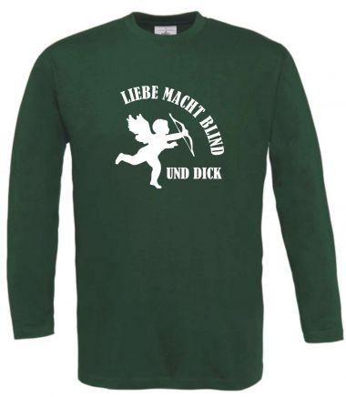 Langarm T-Shirt für Schwangere Liebe macht blind und dick
