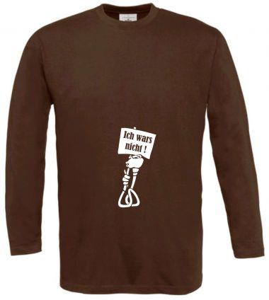 Langarm T-Shirt für Schwangere Ich wars nicht