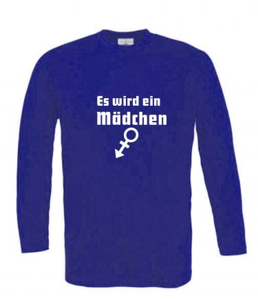 Langarm T-Shirt für Schwangere Es wird ein Mädchen