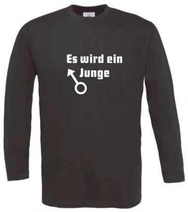 Langarm T-Shirt für Schwangere Es wird ein junge