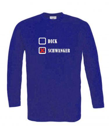 Langarm T-Shirt für Schwangere DICK - SCHWANGER