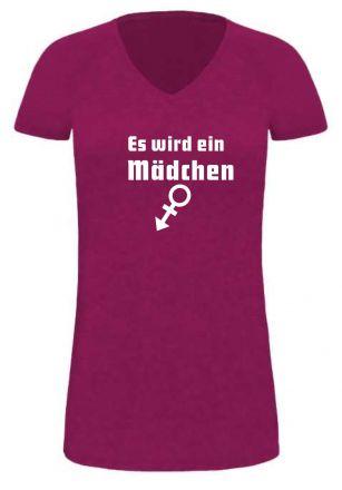 Lady LONG T-Shirt für Schwangere Es wird ein Mädchen