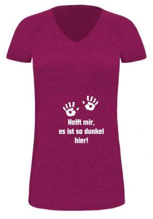 Lady LONG T-Shirt für Schwangere Helft mir es ist so dunkel hier