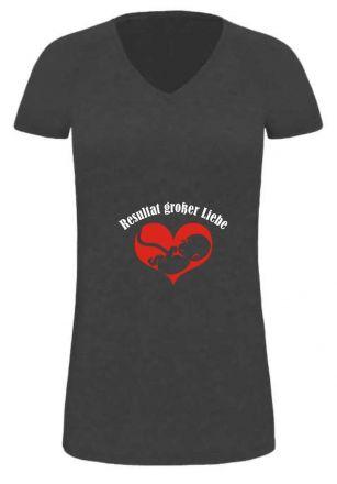 Lady LONG T-Shirt für Schwangere Resultat großer Liebe