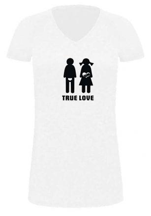 Lady LONG T-Shirt für Schwangere True Love
