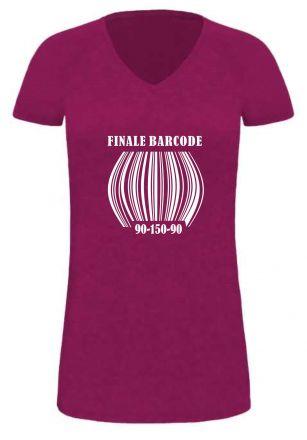 Lady LONG T-Shirt für Schwangere Finale Barcode