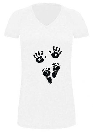 Lady LONG T-Shirt für Schwangere Hände + Füsse
