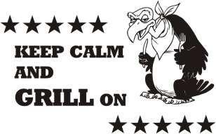 Latzschürze mit Druck Keep Calm