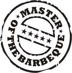 Latzschürze mit Druck Master of barbeque