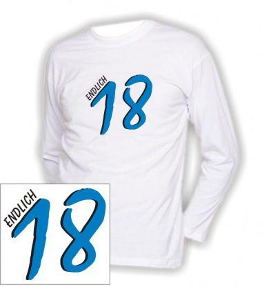 T-Shirt mit Druck Endlich 18