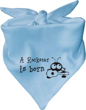 Baby Halstuch mit Druck A Rockstar is born/ AUNTI