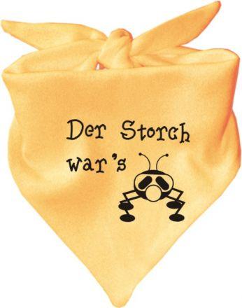 Baby Halstuch mit Druck Der Storch wars / AUNTI