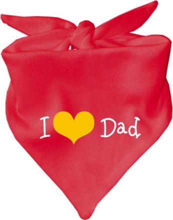 Baby Halstuch mit Druck I love Dad