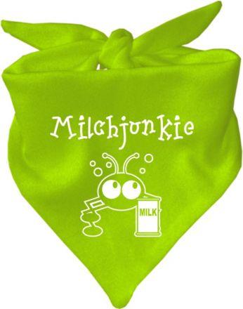 Baby Halstuch mit Druck Milchjunkie / AUNTI