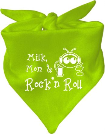 Baby Halstuch mit Druck Milk Mom and Rock n Roll / AUNTI