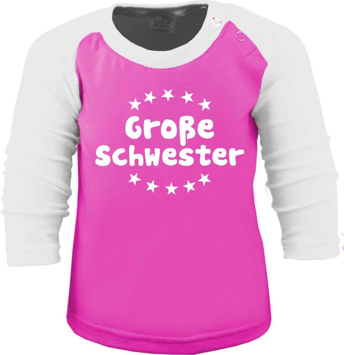 HALSTUCH mit Spruch gro/ße Schwester f/ür Baby oder Kind rosa