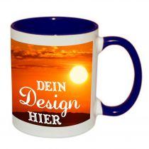 Keramiktasse TWO TONES & HANDLE Henkel und Innenseite farbig