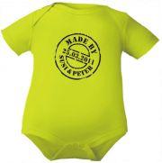 farbiger Baby Body Made by und Namen der Eltern / NEU