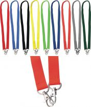 Double lock lanyards 20 mm with Sec-Lock