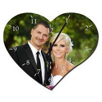 Wanduhr Herzform, inkl. Uhrwerk und Zeiger