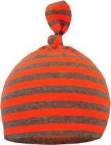 Baby 1-Zipfel Mütze neon gestreift