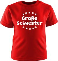 Baby und Kinder Kurzarm T-Shirt Grosse Schwester