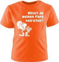 Baby und Kinder Kurzarm T-Shirt Willst du meinen Papa heiraten