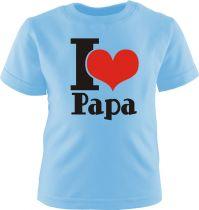 Kinder T-Shirt I LOVE PAPA