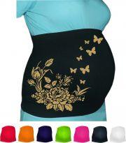 groessenverstellbares Bauchband mit Rose innen + Schmetterlinge