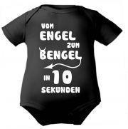 farbiger Baby Body Vom Engel zum Bengel /COOK