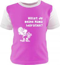 Baby und Kinder Shirt kurzarm Multicolor Willst du meine Mama heiraten