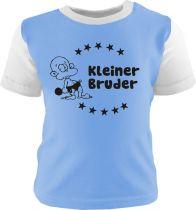 Baby und Kinder Shirt Multicolor Kleiner Bruder /COOK