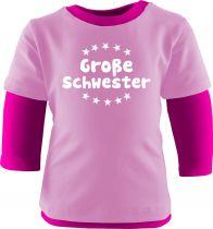 Baby und Kinder Shirt Langarm Multicolor Große Schwester