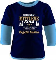Baby und Kinder Shirt Langarm Multicolor Ich bin das mittlere Kind