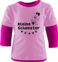Baby und Kinder Shirt Langarm Multicolor Kleine Schwester