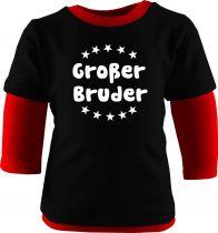 Baby und Kinder Shirt Langarm Multicolor Großer Bruder