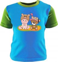 Baby und Kinder Shirt kurzarm Multicolor Kleiner Fratz & Friends Teddy