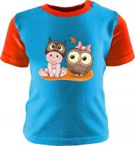 Baby und Kinder Shirt kurzarm Multicolor Kleiner Fratz & Friends Eule