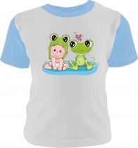 4- er Set Baby Multicolor kurzarm / Shirt + Hose + Beanie + Halstuch / Shirt farbig / Ärmel Einhorn